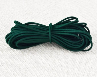 NEW: 2.5mm Pine Green Elastic Cord - Choose your length
