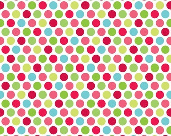 Santa Express Dot Multi by Doodlebug Designs for Riley Blake, 1/2 yard