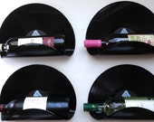 Barry Manilow Upcycled Vinyl Record Wine Rack Wall Organizer - Set of 4