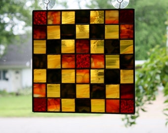 Stained Glass Suncatcher Quilt Blocks