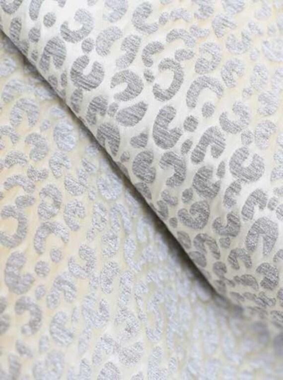 Both Sides Snow Leopard Velvet Chenille Pillow By Loubella1