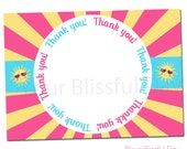 PRINTABLE Our Little Sunshine Thank You Cards #590