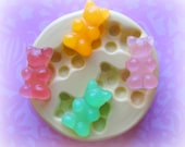 Gummy Bear Mold Candy Silicone Mold Fondant Clay Resin Fake Sweets Kawaii Cabochon Mould