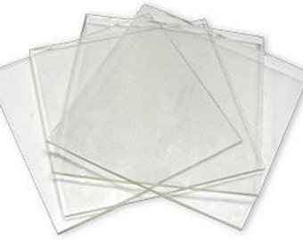 System 96 8inch Clear Fusible Glass Squares - 4 Pack