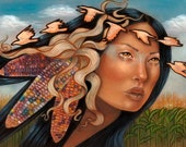 Selu Cherokee Native American Corn goddess 8x10 fine art print
