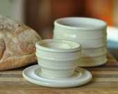 French Butter Keeper, Creamy White