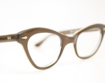 cat eye glasses brown vintage cateye eyeglasses