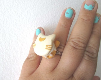 Sailor Moon Ring - ARTEMIS Pancake Ring -  Luna and Artemis - Sailor Scout Ring