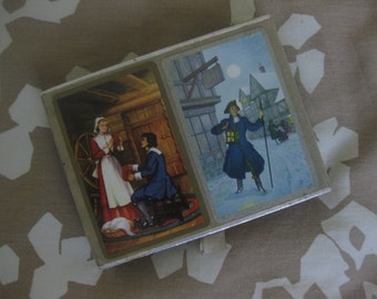 Two Decks of Playing Cards with American Colonial Scenes