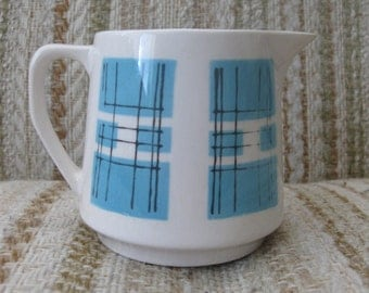 Primastone Danube Blue Checked Creamer