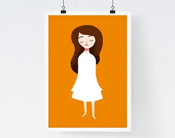 Clementine - Giclee Art Print, wall art, modern illustration