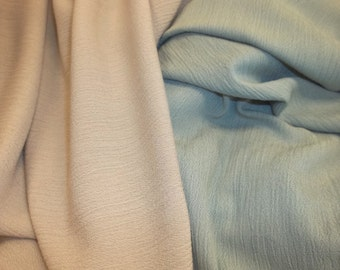 Cool and Gauzy Crinkle Rayon Fabric - A Must for Summer!
