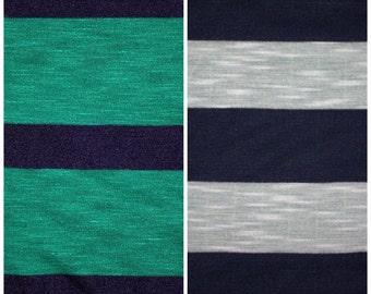 1 yd Striped Slub Jersey (2 colors)