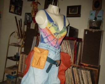 Hand Laced Deerskin Fully Lined in Leather Medium Belt Pouch