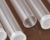 "Tools & Supplies-8 Inch Plastic Tubes-8"" x 1.095"" Extra Large-Natural Plug-Quantity 6"