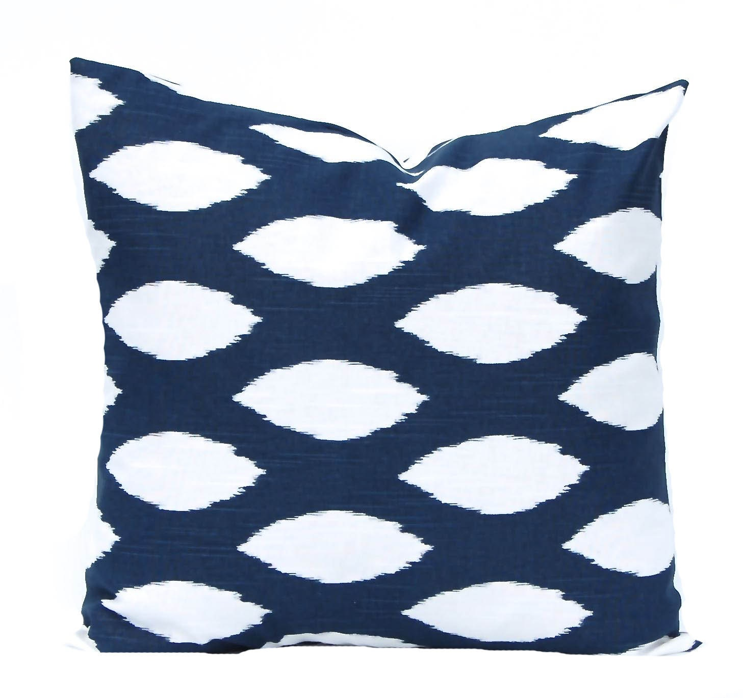 Navy Blue Decorative Pillow Covers : Navy Blue Pillow Covers Navy Pillow Decorative by FestiveHomeDecor