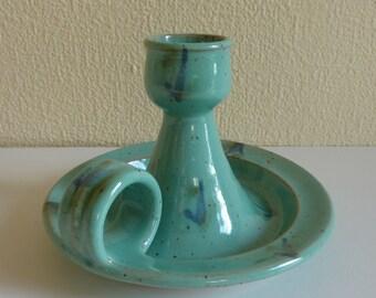 Vintage Candleholder Pottery - Made in Quebec, Canada - Stamped on Bottom