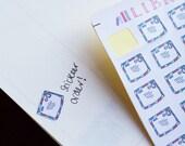30 hand drawn Mail Envelope Planner Stickers, Perfect for Erin Condren, Kikki K, bullet journal, Filofax, Happy Planner, Inkwell Press