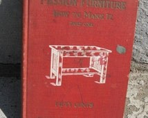 antique 1909 mission furniture how to make it part one popular mechanics handbooks antique furniture making book