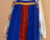 National Ukrainian Slavic Russian costume for a girl. Many sizes. Ukrainian shirt, skirt and an apron