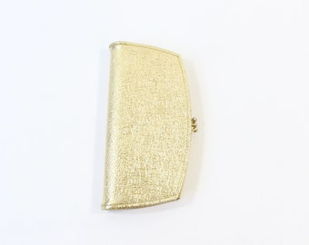 VINTAGE 1960s Gold Wallet Leather