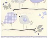 Baby Girl Room Art - Baby Girl Room Decor, Nursery Wall Art Print - Baby Girl Nursery - Girls Purple Lavender Lilac love bird, we loved you