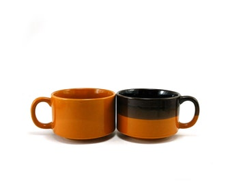 Vintage ceramic soup mugs