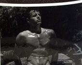"""Vintage B & W Photograph Erotica Nude Physique Original Photograph otherwise known as  """"Beefcake"""""""