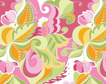 Floral in Pink in Extravaganza Fabric - 1 Yard