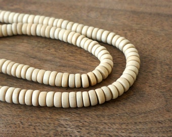 Natural Wood Beads, 8mm x 4mm Rondelle, eco-friendly wooden beads (1104R)