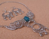 Egyptian Jewelry  Scarab Necklace and Earrings Set