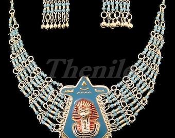 EGYPTIAN  BELLY DANCE  Tutankhamun Necklace & Earrings