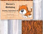 Cute Tiger Print Invitation