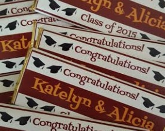 Chocolate Gifts, Chocolate Bars, Graduation Gift, Hostess Gift, Party Favors, Dark Chocolate Bars, Personalized Chocolate Bars, Favors