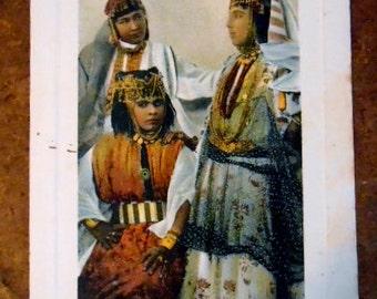 Vintage Algerian Ouled Nail Dancing Girls Postcard