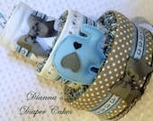 Elephants Baby Diaper Cake Shower Gift or Centerpiece