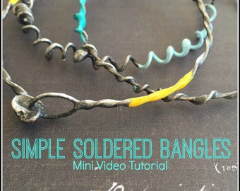 Easy Soldered Bangles Video Tutorial with Cat Kerr