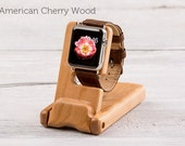 Luxury Pocket Stand for Apple Watch - American Cherry Wood