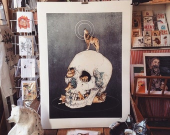 Wolfpack // A2 archival quality Giclee' Print (42 x 59.4cm)