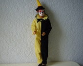 Vintage Ken Doll Wearing the 1963 Ken Doll Masquerade Clown Costume.