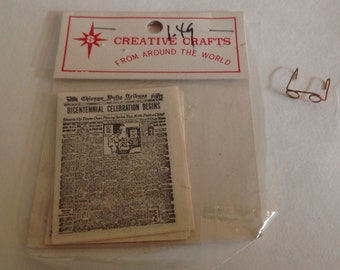Miniature Chicago Daily Tribune and Glasses