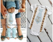 Easter Personalized Baby Boy Tie & Suspender Bodysuit. Any Embroidered Necktie Fabric. Plaid, Stripes Argyle. New Baby, Coming Home Outfit