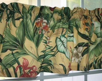 Valance Waverly Floral Yellow Sol Wailea Coast Sun and Shade for Indoor Outdoor Use