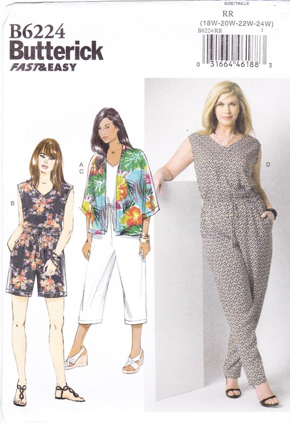 Awesome 1970s Womens Jumpsuit Playsuit Pattern With Long Overskirt
