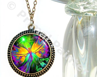 Chakra Necklace Energy Healing Reiki Jewelry From Dark to Light