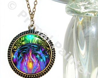 "Violet Flame Jewelry, Chakra Art, Reiki Energy Pendant ""Transmutation"""