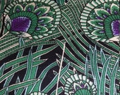 By The Yard Teal Blue Green Regent Peacock fabric by Alexander Henry/Cotton Print Peacock Fabric