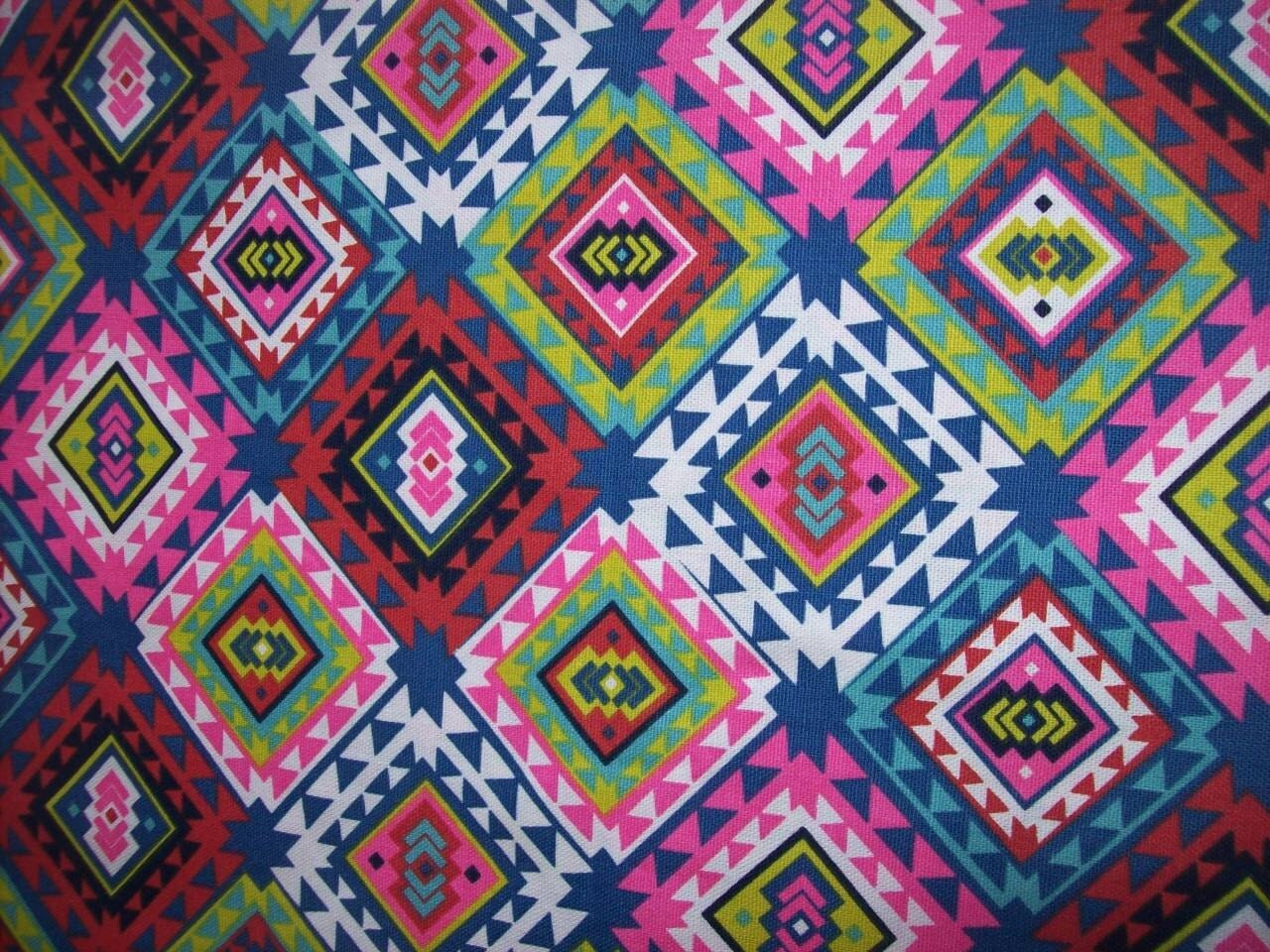 Per Yard Upholstery Lightweight Tribal Print Fabric For