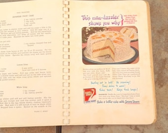 """Original version of classic """"Tried Treasures"""" vintage cookbook, Junior Charity League of Union, South Carolina, early 1950s, early Coke ad"""