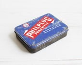 Vintage Philplug Screwfix Tin - Trinkets box screws collectible decor blue